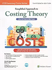 CCH's Simplified Approach to Costing Theory (AMA) for CA. Final & CWA Final May 2018 Exam
