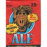 Alf 2nd Series Trading Cards with New Boullabaseball Card Inside! (5 Cards, 1 Sticker, 1 Stick Bubble Gum) by Topps