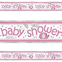 Unique Baby Shower Foil Banner - Pink Umbrellaphants