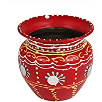 ansh presenta la India impreso de acero puro Lota Kalash (barco), mesa serveware, carefes (jarra), Pooja Accesorios Drinkware, acero para Festival Pooja Lota Kalash (Puja)