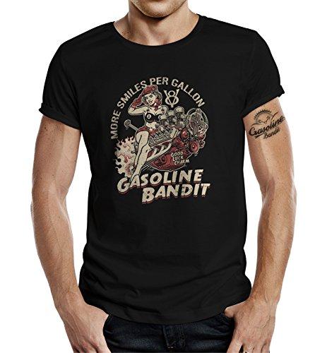 Design, Rockabilly Racer Hot Rod T-Shirt: V8 - More Smiles per Gallon L - A-rod Shirt