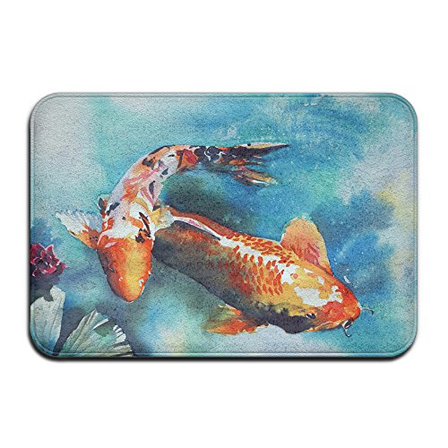 4df7c821f9757 DIYABCD Japanese Koi Fish Doormat Anti-slip House Garden Gate Carpet Door  Mat Floor Pads