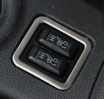 Auto Sitzheizung Knopf, dekorative Rahmen Verkleidung Test