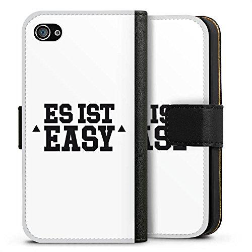 Apple iPhone X Silikon Hülle Case Schutzhülle Cro Merchandise Fanartikel Es ist easy Sideflip Tasche schwarz