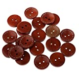 #7: Phenovo 20 Pieces Wooden Flatback 2 Holes Buttons for Sewing Clothing Buttons Repair 20mm