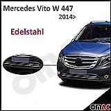 Mercedes Vito W447 ab 2014 Neu (DIS) Chrom Vordere Zierleiste Edelstahl 2tlg