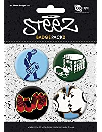 Steez Badge Pack - 4 X 38mm Badges (6 x 4 inches)