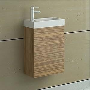 e plumb wandhalter buche waschkommode mit unterschrank waschbecken aus keramik horizon amazon. Black Bedroom Furniture Sets. Home Design Ideas