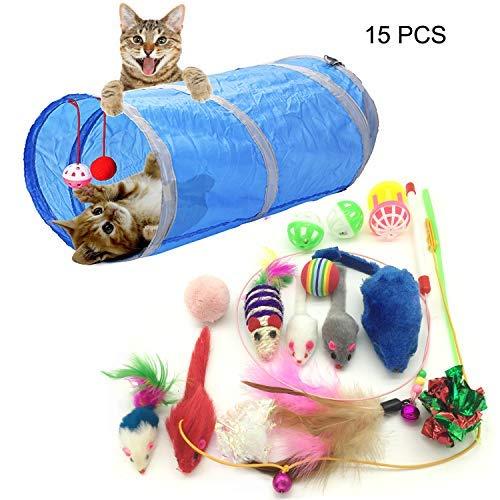 PietyPet Katzenspielzeug, Katze Toys Variety Pack, Spielzeug für Katzen Kitty 15 Stück