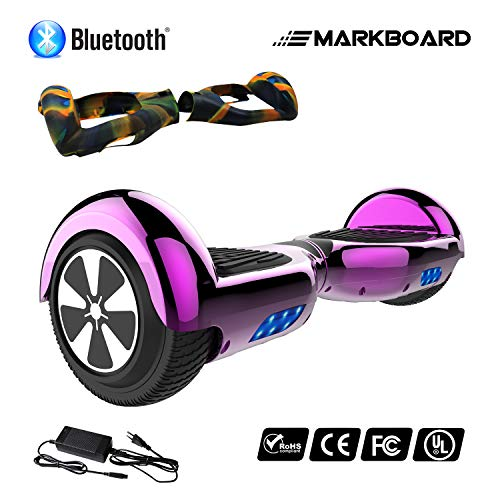 MARKBOARD 6,5zoll Hoverboard Elektro Scooter Selfbalance Scooter für Kinder, 700W Motor (6,5Chrom Purple)