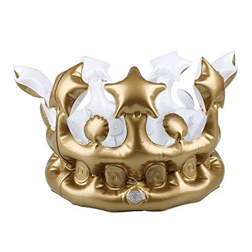 Kicode Herramientas de Suministros PVC Oro Corona de cumpleaños Cosplay Creativo del cumpleaños de los niños 13X13X7