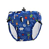Lixada Baby & Toddler Swim Diapers Lace-up Adjustable Waterproof Leakage-proof Reusable Swimming Nappy Pants Swimwear Dark Blue XL