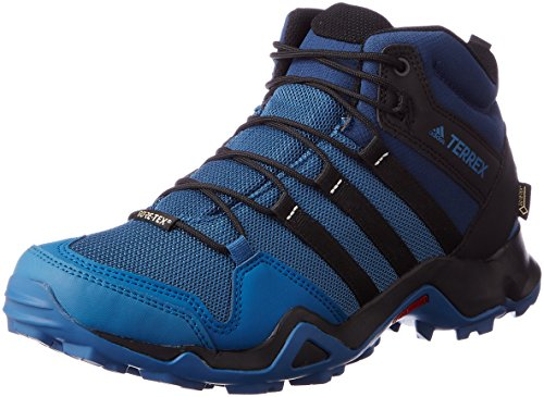 Adidas Terrex Ax2r Mid Gtx, Botas de Montaña para Hombre, Azul (Azubas/Negbas/Azumis), 45 EU