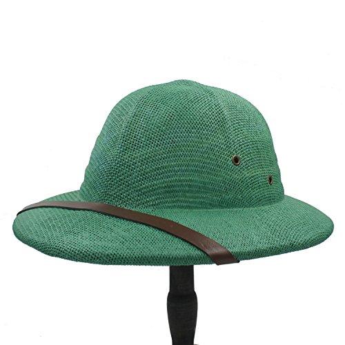 Breiter Sonnenhut, Neuheit Toquilla Stroh Helm Pith Sonnenhut für Männer Vietnam Krieg Armee Hut Papa Boater Bucket Für Frauen (Farbe : 4, Größe : 56-59CM)