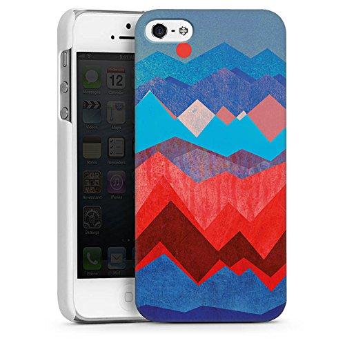 Apple iPhone 5s Housse Étui Protection Coque Montagnes Motif Motif CasDur blanc
