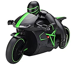 Sunshine Remote Control Motorcycle 2.4 GHz, Built in Gyroscope, LED Headlights (Green)