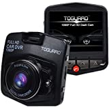 "TOGUARD Mini Car DVR Camera 2.4"" Full HD 1080P Driving Recorder With G-sensor Motion Detection Loop Recorder HDMI Output Night Vision G-sensor (Black)"