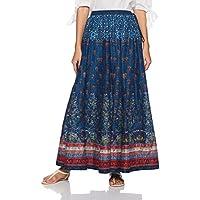 BIBA Women's Skirt (CARVED B13221_BLU_L)