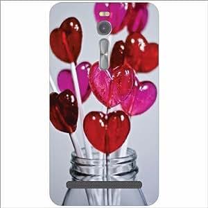 Asus ZenFone 2 ZE551ML Back Cover - Lets Talk Love Designer Cases