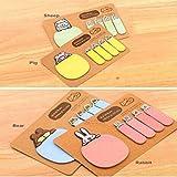 Tefamore Mini pegajoso 4 estilos Notas Bloc de Animal lindo papel Kraft Efectos de escritorio del regalo (azar)
