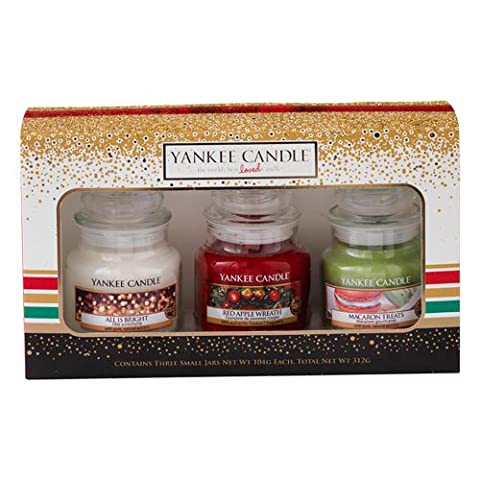 Yankee Candle Jar Holiday Party Gift, Small - Multi-Colour, Set of 3