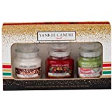 Yankee Candle Christmas 2016 3 Small Jars Boxed Gift Set