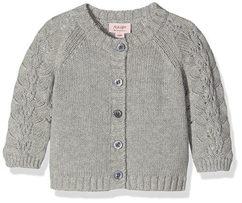 NOA NOA MINIATURE Baby-Mädchen Strickjacke 2-3440-1, Grau (Grey Melange 5), 80 (Herstellergröße: 12M)