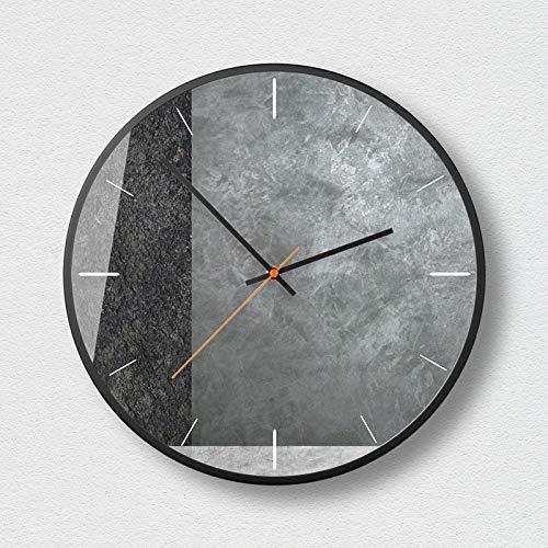 SMAQZ Wanduhr - Nordic minimalistische geometrische Mode Wanduhr, Uhr und Moderne Wohnzimmer Büro Dekoration Uhr Mysterious schwarz-H 4 Zoll -