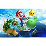 Super Mario (22inch x 14inch / 56cm x 35cm) Silk Print Poster - Soie Affiche - 384589