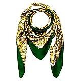 Lorenzo Cana Luxus Seidentuch aufwändig bedruckt Tuch 100% Seide 100 x 100 cm harmonische Farben Damentuch Schaltuch