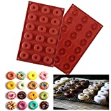 VEYLIN 26 Grids Doughnut Mould Tray for Making Donut Cakes, Pack of 2, Assorted Sizes