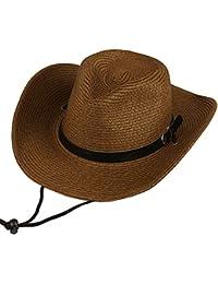 b2682e0f33442 Hombres Sombrero de paja Verano Sombrero de playa Sombrero de vaquero Para  Camping   Ciclismo