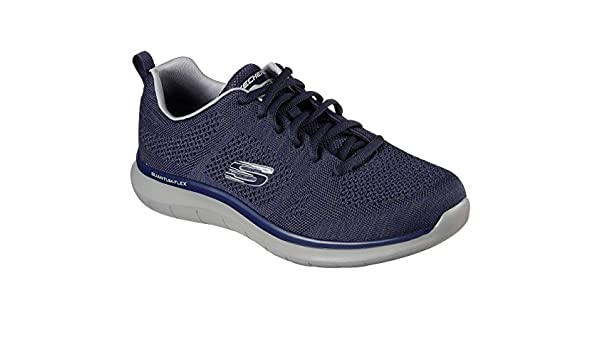 f7237384de39 Skechers Mens Quantum Flex Athletic Shoes 8.5 Navy Blue  Buy Online at Low  Prices in India - Amazon.in