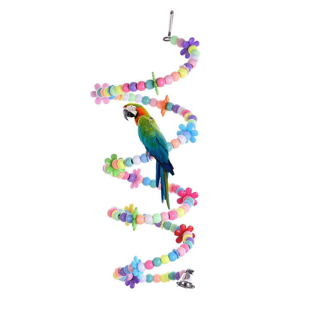 AOLVO Escalera Espiral Colorida, Loro Escalada Columpio Juguete de Entrenamiento, para Loros Agapornis Periquitos Pajaros Pequeños Canarios