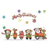 WINOMO Frohe Weihnachten Fenster Aufkleber Wandtattoos DIY Wandbilder Weihnachten Party Decor Zubehör
