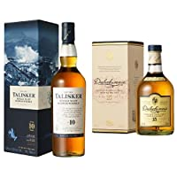 Talisker 10 Year Old Single Malt Scotch Whisky and Dalwhinnie 15 Year Old Whisky