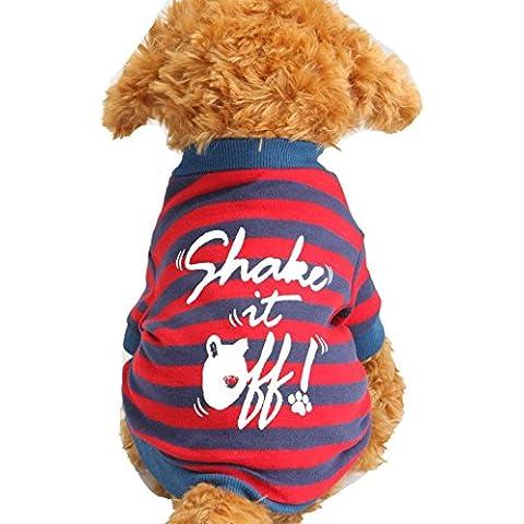 SAMGU Animal doméstico ropa para perros mascota gato primavera y verano Pequeños Ropa T Shirt color azul rojo size