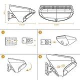 Solar Wandleuchte mit Bewegungsmelder, SGODDE 36 LED Wireless Wasserdichte Solarleuchten, 4 Modi Solar Aussenleuchte, 4400mAh Solar Gartenleuchten, Solarlampen mit 45° verstellbarer Halter Super Hell - 8