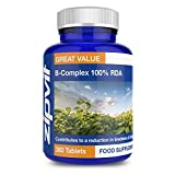 Vitamin B Complex 100% RDA | 360 Vegan Tablets | for Heart, Hair