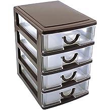 Hrph Cajón Durable Oficina de plástico Escritorio Escritorio Espejo Cosmética Estilo Cajón Caja de almacenamiento