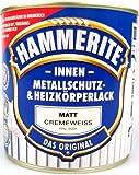0,5L Hammerite Metallschutzlack und Heizkörperlack innen cremeweiss matt