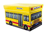 School Bus Collapsible Toy Storage Box A...