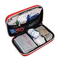 Festnight 184 PCS First Aid Set Emergency Equipment with Storage Bag for Car Travel Office Home Camping Hiking