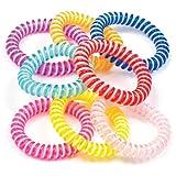 Baker Ross Bracelets Spirales à Rayures diagonales (Lot de 8) - Jouet Parfait pour Les Pochettes-Surprises des Enfants
