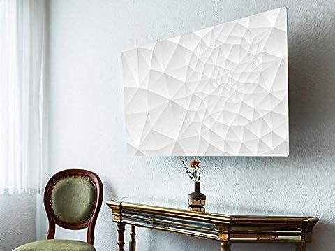 screencover - Abdeckung für Ihren Flatscreen, alle Zollgrößen möglich, Material Hartschaum weiß, mit Motiv Nautilus, Größe 32'' TV (83cm x 51cm)