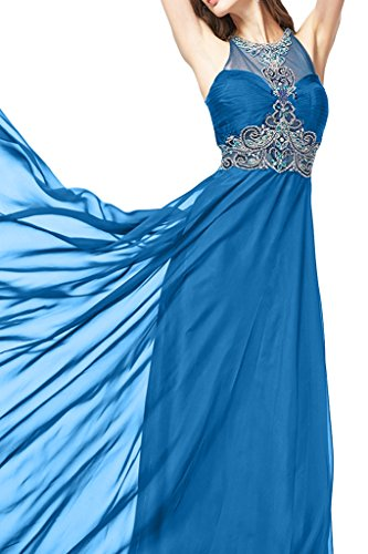 Sunvary Noble Halter, abiti in Chiffon Prom Gowns Blue