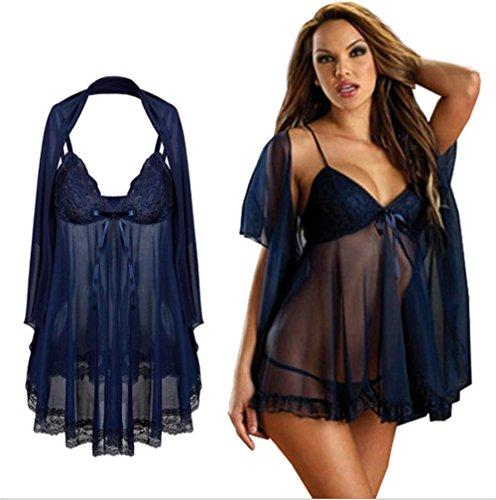 Spaß Pyjama Spitze Transparente Nachtwäsche Plus Größe Babydolls Dessous 6XL exy Unterwäsche, 5XL ()