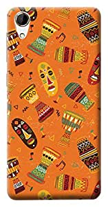 Mott2 Back Case for HTC Desire 820 | HTC Desire 820Back Cover | HTC Desire 820 Back Case - Printed Designer Hard Plastic Case - Tribal pattern theme