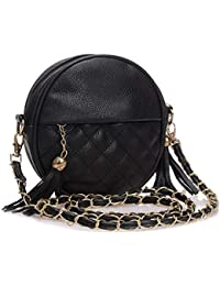 d8e7391b951677 JINM Mini Lady Fashion Schultertasche Handtasche Kette Leder Sling Bag  Quasten, Damen Tasche Lattice Mädchen