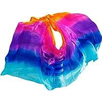YI NA SHENG WU 1 Pieza Velos de Seda de Danza del Vientre Chal de Seda de Mujer 250 x 114 cm Cinco Colores (250 X 114 cm)